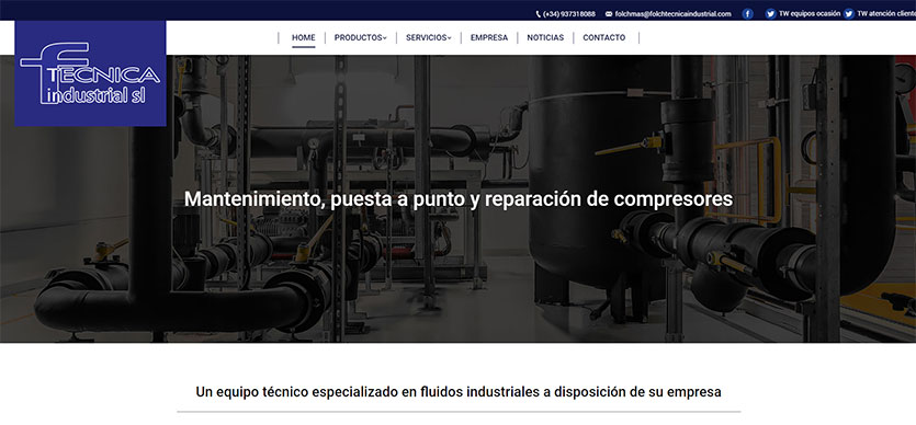 Mantenimiento y reparación de compresores - Folch